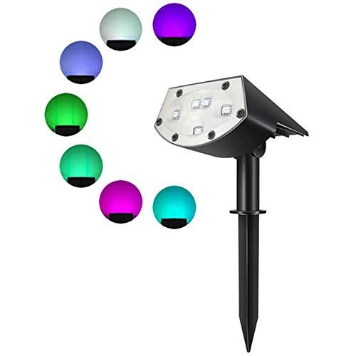 ZXYY Foco Solar Luces De Jardín Al Aire Libre Cambio De Color LED Luces De Punto De Paisaje con Energía Solar Luz De Pared Impermeable Luz De Seguridad