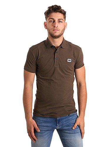 Antony Morato Camisa de Polo de Logotipo Color Caqui