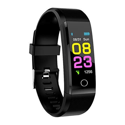 LZW Multifunktionale Smart-Armband-Farben-Schirm-wasserdichte Sport-Uhr Fitness Männer Und Frauen Tracker Bluetooth Mode-Armband Für Ios Android,Schwarz