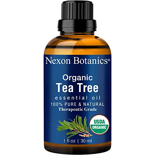 Organic Tea Tree Oil 30 ml - Melaleuca Alternifolia Oils - Pure, Natural Undiluted Therapeutic Grade Tea Tree Essential Oil For Hair, Skin and Scalp from Nexon Botanics