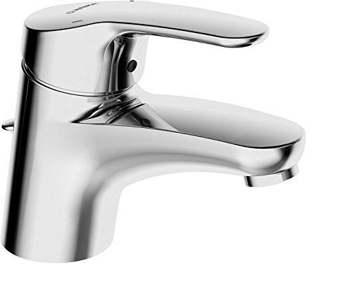 Hansa Waschtisch Einhebelmischer Hansamix, Wasserhahn mit Garnitur und flexiblem Druckschlauch, verchromt, Art.Nr. 01102283