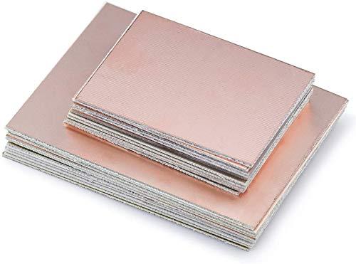 HENTEK 20 Stk Kupferbeschichtet PCB Leiterplatte Kupfer Plattiert Plate Platine FR4 1,5 mm Dicke für Industrielles Lötmittel Wartung DIY