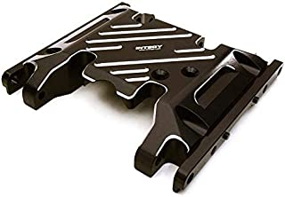 Integy RC Model Hop-ups C27127BLACK Billet Machined Alloy Center Skid Plate for Axial SCX10 II w/LCG Transfer Case