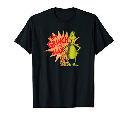 Dr. Seuss Grinch and Max Burst T-shirt