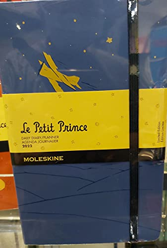 The Little Prince MOLESKINE 2022 Daily Diary/ Planner Agenda Journalier (12M, L, Blue) Limited Edition Le Petit Prince