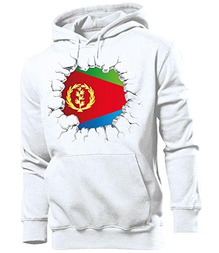 love-all-my-shirts Fussball Fanhoodie Eritrea 5700 Männer Herren Hoodie Pulli Kapuzen Pullover Fanartikel Weiss M