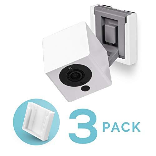 Wandsteun voor Wyze Cam V2, geen schroeven, Stick On met sterke 3M VHB tape, snelle & geen gedoe installeren (3 Pack, wit), Wyzecam beugel houder door Brainwavz