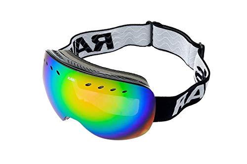 Ravs Unisex Skibrille und Snowboardbrille Skiing Goggles mit Allwetter Scheibe Rahmenlos