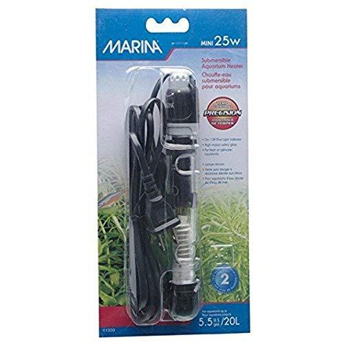 Marina 11230 - Termo Calentador, 25 W, para Acuarios de hasta 20 Litros