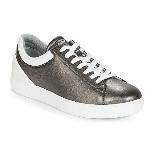 Emporio Armani Bruna Zapatillas Moda Mujeres Estaño - 41 - Zapatillas Bajas Shoes