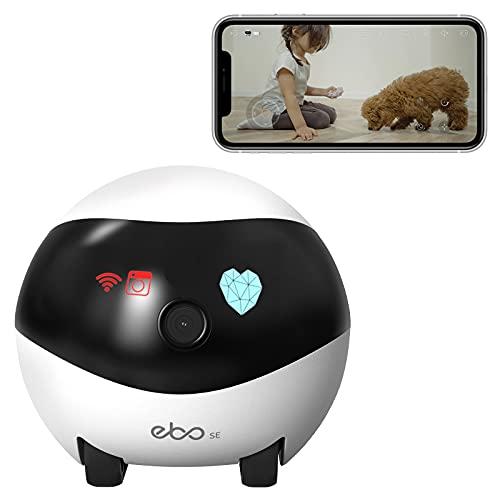 Enabot Ebo SE Cámara móvil de seguridad para el hogar, cámara de vigilancia 1080P, cámara IP domo con visión nocturna, crucero automático, carga automática, detección de movimiento,audio bidireccional
