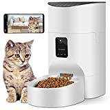 Pezakf 7L Automatic Cat Feeder with HD Camera, Wi-Fi Enabled Smart Phone APP, Auto Dogs Cats Pet Dry Food Dispenser Timer Portion Control, Voice Recorder and Interaction Up to 8 Meals per Day