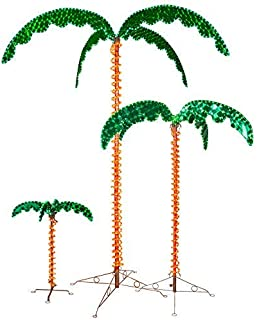 LED Deluxe Rope Light Palm Tree - Green - 7' Deluxe LED Lighted Palm Tree