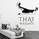 Thai Massage Vinyle Mur Art Decal Stickers Muraux Pvc Pour Massage Boutique Chambre...