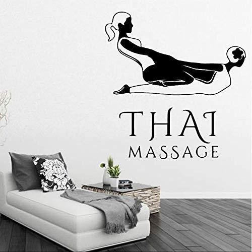 GJQFJBS Thai massage vinyl applique wandkunst wandaufkleber PVC massage shop schlafzimmer wandkunst aufkleber wandbild A3 58 cm X 60 cm