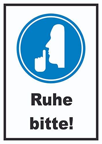 HB-Druck Ruhe Bitte Schild A5 (148x210mm)