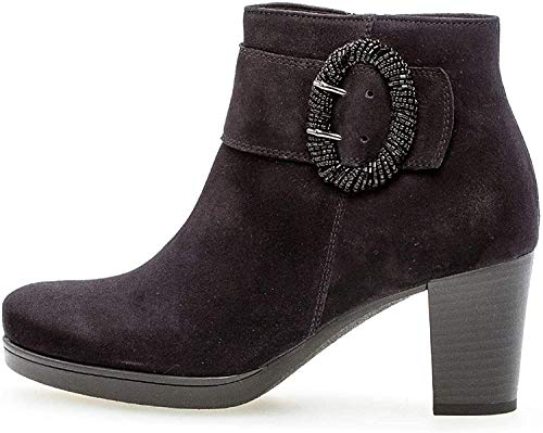 Gabor Damen Ankle Boots 32.862, Frauen Stiefelette,Stiefel,Halbstiefel,Bootie,knöchelhoch,Reißverschluss,Pazifik (Micro),41 EU / 7.5 UK