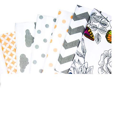Tessuto Cotone Stoffa Patchwork Tessuti a metraggio 14 Pezzi 20x40cm - scampoli stoffe per Cucito Creativo al Metro, Fai da Te con Non Tessuto, Cordino
