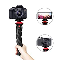 【Lightweight & Portable】: Weight: 215g (0.47lb) Tall: 28cm Load Capacity: 1200g (2.64lb). Fotopro DSLR camera tripod made with high-density rubber-coated legs which makes it more sturdy and durable. It will not take much of the space and is convenien...