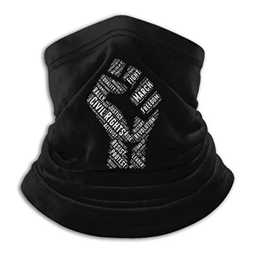 Civil Rights Black Power Fist March for Justice Flag Neck Gaiter Tube Mask Headwear Balaclava Motorcycle Face-Mask Face Scarf