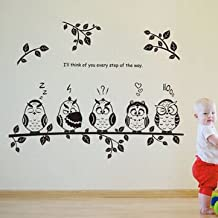 Generic Owl Birds Kindergarten Kids Bedroom Home Decor DIY Wall Sticker