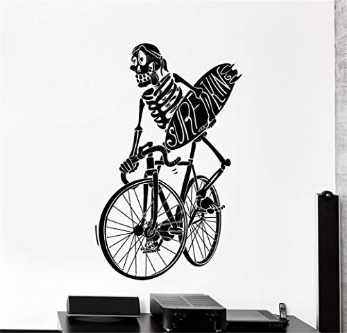 pegatinas de pared tortugas ninja Surf Surf Esqueleto en bicicleta Funny Big Home
