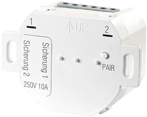 CASAcontrol Smart Schalter Unterputz: Unterputz-Funk-Doppelschalter für Smart-Home-Basis-Station Smart WiFi (Smart Home Lichtschalter Unterputz)