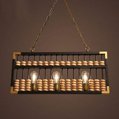HUAXUE ZHXZHXMY Boutique Lighting - LED/lámpara del Vintage Antiguos Chinos Abacus / // / Lámparas Personalidad Creativa/América Rural/Cafe/Lámparas de Madera