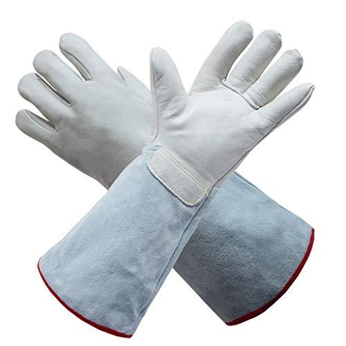 ZhuFengshop handschoenen lederen vloeibare stikstof bestand tegen lage temperatuur handschoenen industriële lassen open haard lassers handschoenen hoge temperatuur tuinieren handschoenen36-63cm beschermende handschoenen, werk, boerderij