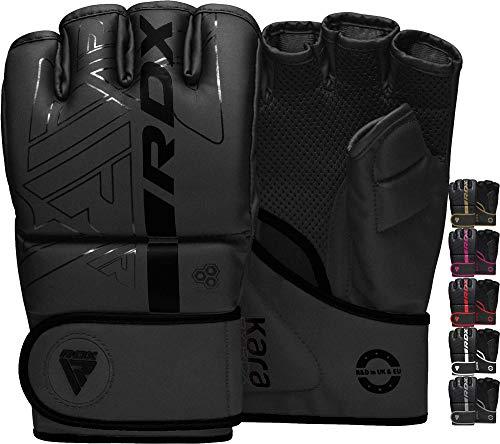 RDX MMA Handschuhe für Kampfsport Training, Maya Hide Leder Kara Sparring Handschuhe, Punchinghandschuhe für Sandsack, Muay Thai, Kickboxen, Freefight, Grappling, Boxsack Gloves (MEHRWEG)