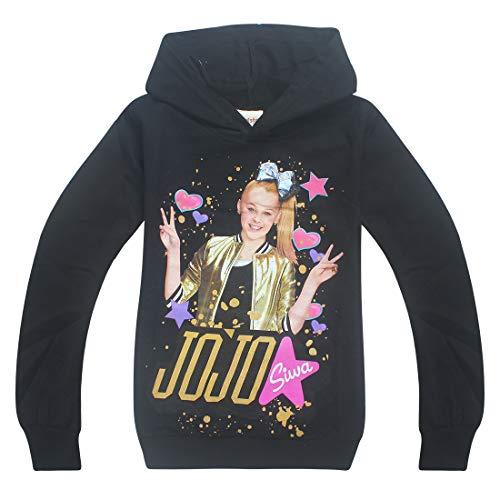 Wazonton Girls Hooded Sweatshirts with 3D Full Printed JoJo Siwa Girls Hoodies Pullover Outfit for JoJo Siwa Girls