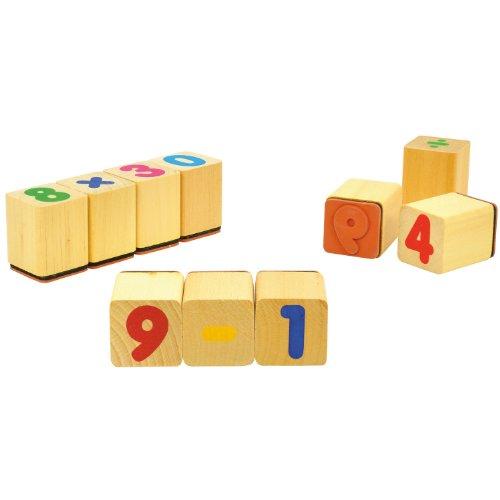 Holzstempel Zahlen 24er