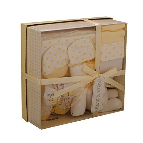 Coffret cadeau - Trousseau de naissance - garçons ou filles - nouveaux nés ou cadeau pour la fête prénatale - 7 pièces - Citron (0-3 mois)