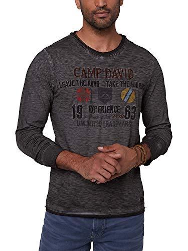Camp David Herren Longsleeve im Layer Look mit Artwork