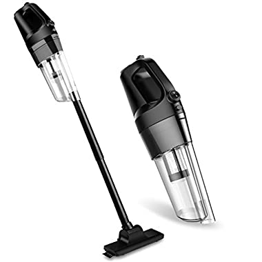 [Upgraded Version] Hand Vacuum Cordless, 80W 4.5kPa Cyclonic Suction Dust Buster Cordless Vacuum Cleaner with Bagless Stainless Steel Filter and 4000mAh Rechargeable Lithium Ion (Black)
