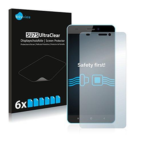 Savvies 6X Schutzfolie kompatibel mit Oukitel C3 Bildschirmschutz-Folie Ultra-transparent