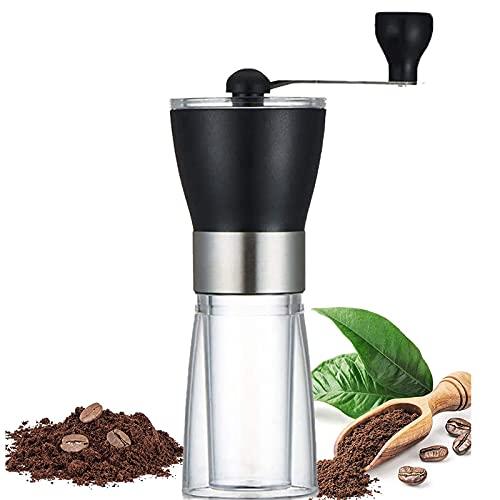 Ręczny młynek do kawy, ręczny ceramiczny młynek do kawy Młynki do kawy Młynek ceramiczny stożkowy regulowany zespół żarna do precyzyjnego zaparzania do podróży w domu na zewnątrz Młynek ręczny