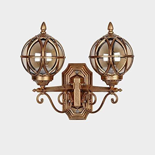 Lámpara de Pared con Iluminación Decorativa Aplique de pared exterior Lámpara de pared, persiana pared de cristal de la linterna ligera de la pared del jardín del patio externo ligero de la pared Vill