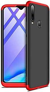 Spazy Case Vivo U20 / Vivo Y19 Protective Cover Case Ull Body 3 in 1 Slim Fit Complete 3D 360 Degree Protection Hybrid Hard Bumper Back Case Cover for Vivo U20 / Vivo Y19- (Black & Red)