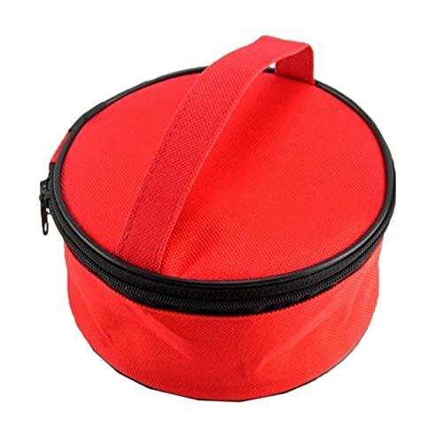 RWEAONT Nuevo 1 Set Vajilla Cuencos Cucharas Spoons Chopsticks Conjunto de vajillas Set de Cubiertos Follete con Bolsa de Almacenamiento Acampado de Acero Inoxidable Picnic (Color : Red)