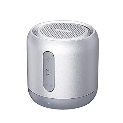 Anker Bluetooth Speaker, SoundCore mini, Super Portable Speaker with 15-Hour Playtime, 20 Meter Bluetooth Range, Enhanced Bass, works with iPhone, iPad, Samsung, Nexus, HTC, Laptops and More by Anker