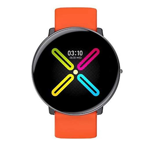 XUEXIU Ultra-Thin 1.3InCH HD Pantalla Redonda De Pantalla Redonda SmartWatch Medición a Prueba De Agua Medidor De Ritmo Cardíaco Pulsera Inteligente (Color : Orange)