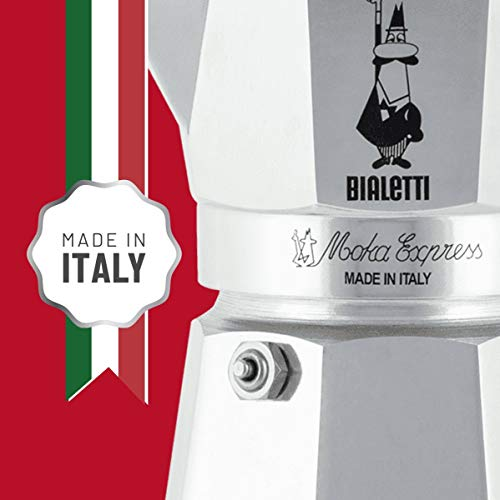 Bialetti Moka Express Aluminium Stovetop Coffee Maker (4 Cup)