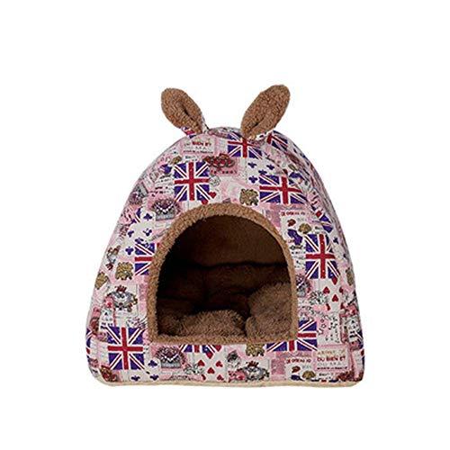 Cama for perros Mantener Caliente perro o gato Cama Salón sofá cubierta extraíble 100% Ante memoria colchón Fácil mantenimiento de la máquina de lavado perro de peluche cama (color: rosa, Tamaño: S) Z