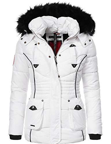 Marikoo Damen Winter Jacke Steppjacke Vanilla White Gr. L
