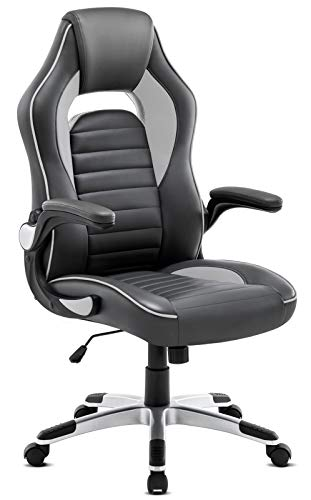 Marvelous Intimate Wm Heart Gaming Chair With Foldable Arms High Back Swivel Pc Desk Computer Reclining Chair With Ergonomic Design Grey 1 Machost Co Dining Chair Design Ideas Machostcouk