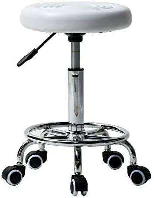 NUFR Home Salon Massage Stool Wheels 5% OFF Rolling with Adjustable Hyd Very popular
