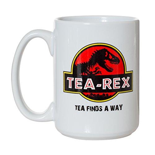 Tea Rex Tea Finds A Way Lustige Tasse – 425 ml Deluxe, doppelseitige Kaffeetasse