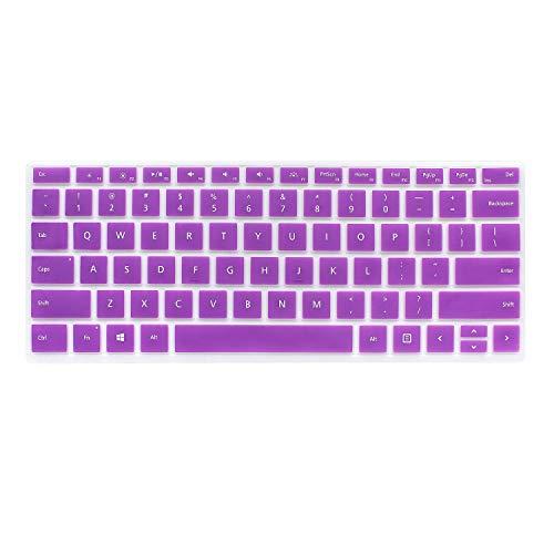 Masino Silikon-Tastatur-Abdeckung für Microsoft Surface Pro Signature Type Cover & Surface Pro Type Cover, ultra dünne Schutzhülle Tastatur-Abdeckung, Violett for Surface Pro 6/ Pro 5/ Pro 4