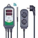 Inkbird ITC-308 Prise Thermostat WiFi Numérique 2 Relais 220V Sonde Controleur de Temperature Réfrigération...